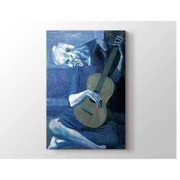 2645 Sanat Pablo Picasso - The Old Guitarist 1903 Tablo 40x60
